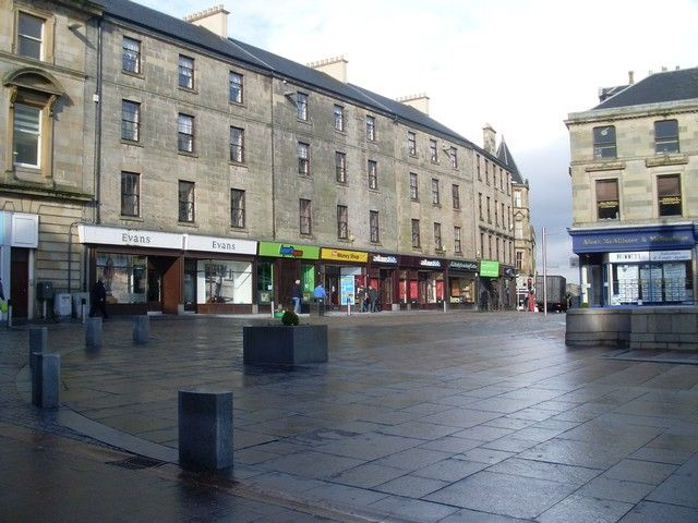 Moss Street, Paisley Pedestrianised shopping street in the town centre