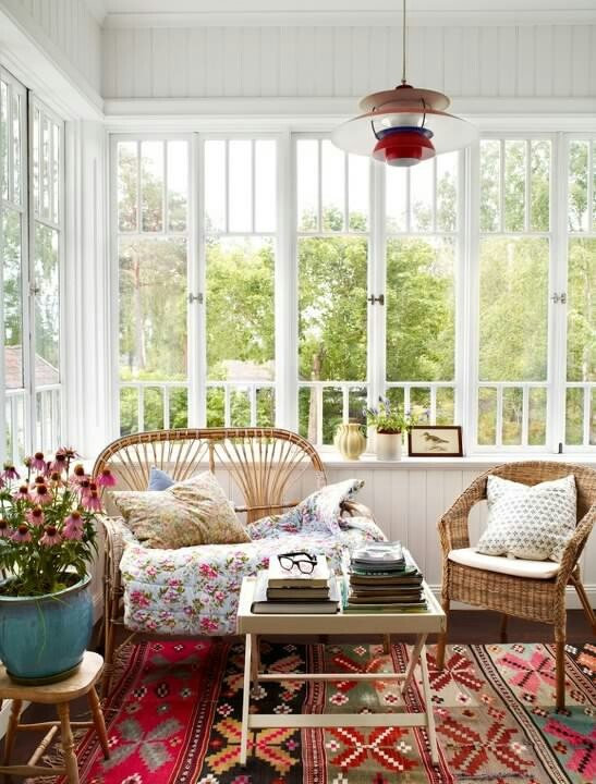 Swedish porch in summer house - love it..