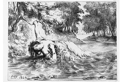 ウジェーヌ・ドラクロワ ltオフィーリアの死gt《ハムレット》1843 年 栃木県立美術館2014年9月28日(日)から11月30日(日)まで、ウィリアム・シェイクスピアの生誕450年を記念した展覧会...