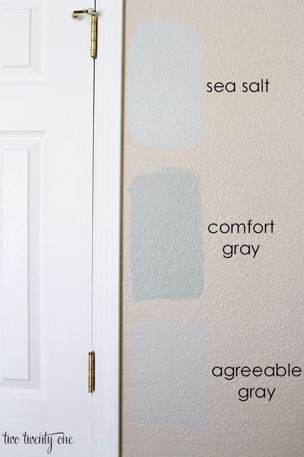 Bedroom paint samples