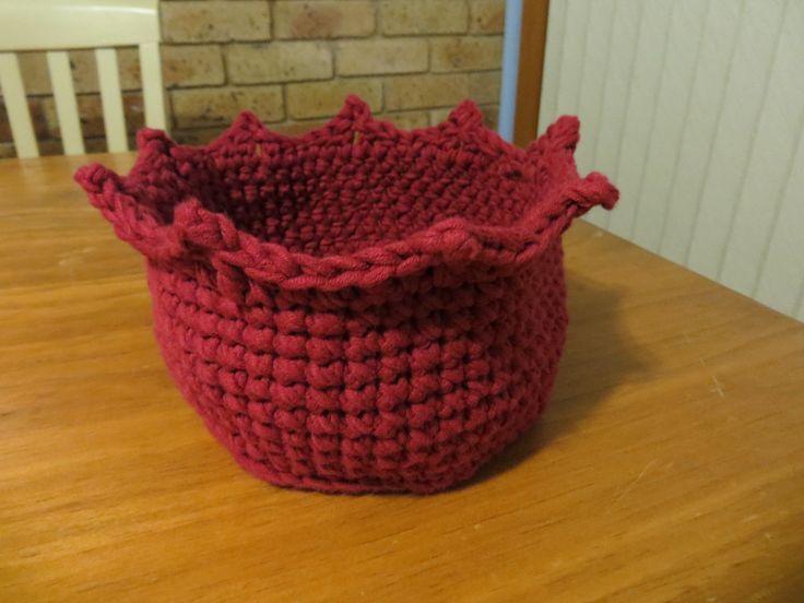 princess basket, crochet, cotton blend yarn, own design 2016