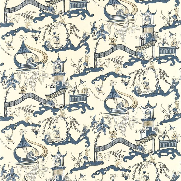 Sanderson - Traditional to contemporary, high quality designer fabrics and wallpapers | Products | British/UK Fabric and Wallpapers | Pagoda River (DVIPPA202) | Vintage