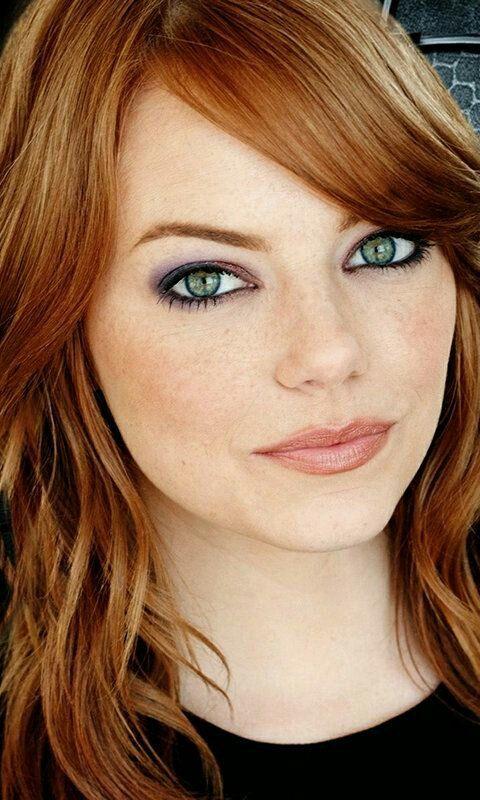 Emma Stone (beautiful makeup)