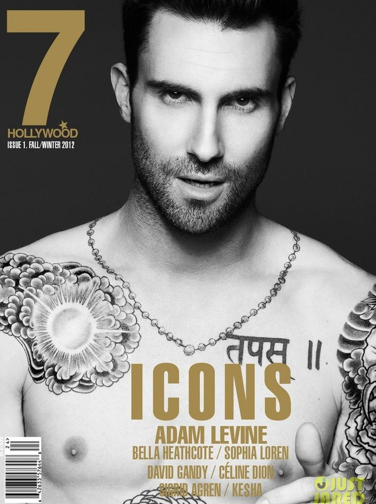 """Maroon 5 frontman and """"Voice"""" judge Adam Levine has done it yet again, by revealing his incredible body on the cover (and the accompanying inside spread) of the new issue of """"7 Hollywood"""". Description from popgoesthearts.blogspot.com. I searched for this on bing.com/images"""
