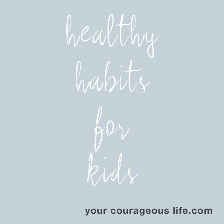 Creating healthy habits for kids? Is that even possible?  YES, it is--and here's how you can use habit-formation to your advantage.  https://www.yourcourageouslife.com/healthy-habits-for-kids/?utm_content=buffer80db9&utm_medium=social&utm_source=pinterest.com&utm_campaign=buffer