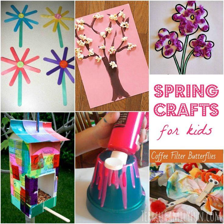 #Spring #Crafts for Kids, Spring Crafts for Toddlers