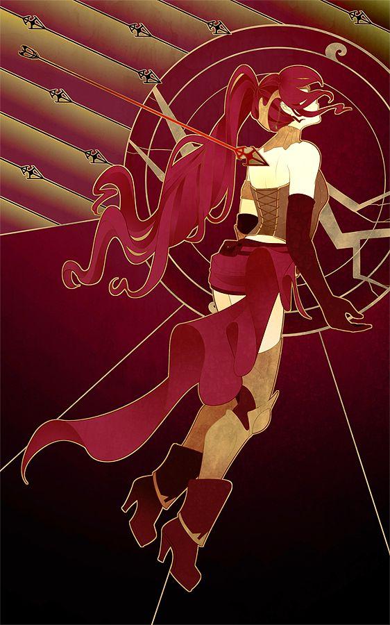 Pyrrha the fallen maiden