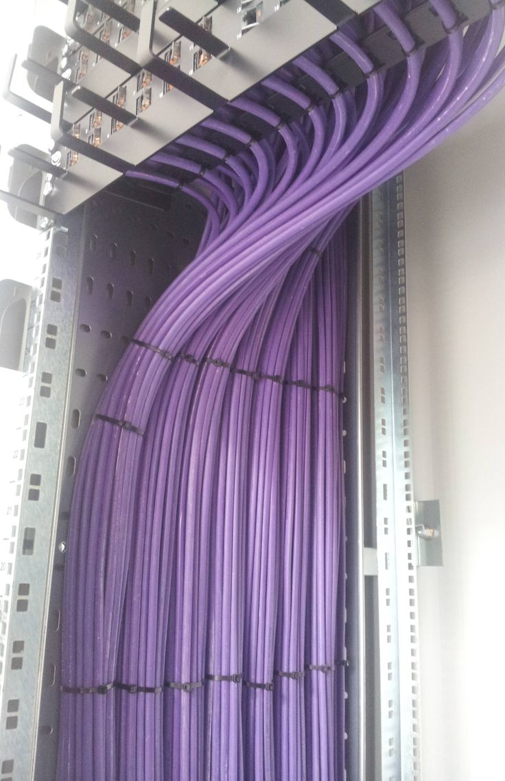 Structured Cabling Installation. I'm not sure how I feel about cable ties. What's your opinion?