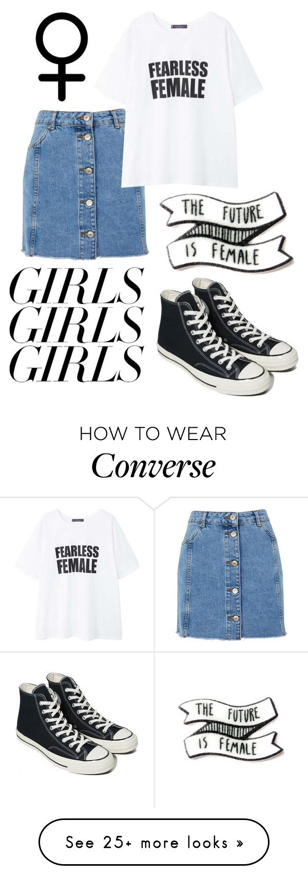 """Untitled #88"" by chanc3 on Polyvore featuring Topshop, MANGO, Converse, womensHistoryMonth, pressforprogress and GirlPride"