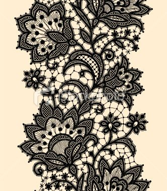 Do you like lace at all? (Vertical Seamless Pattern Black Lace Royalty Free Stock Vector Art Illustration)