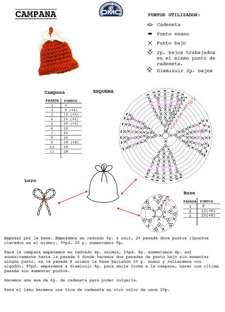 Crochet Xmas Ornaments - Chart ❥ 4U // hf