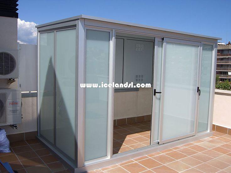 17 mejores ideas sobre puertas de aluminio en pinterest for Armarios para terrazas