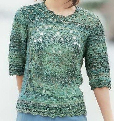 Crochet top with diagram, well explained the diagram