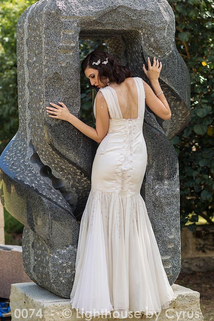 20 s Laced Back Wedding Dress http://www.arcarocouture.com.au