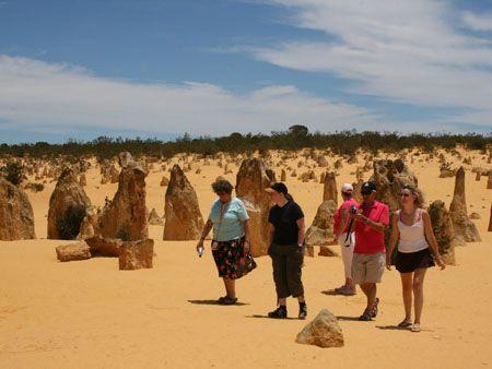 Walking the Pinnacles, Western Australia.