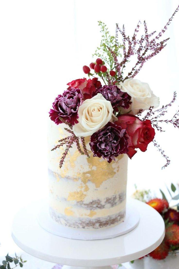 Wild flower naked cake, baby shower, gender neutral