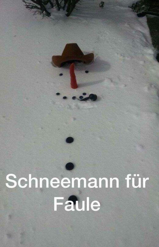 Schneemann für ganz faule!