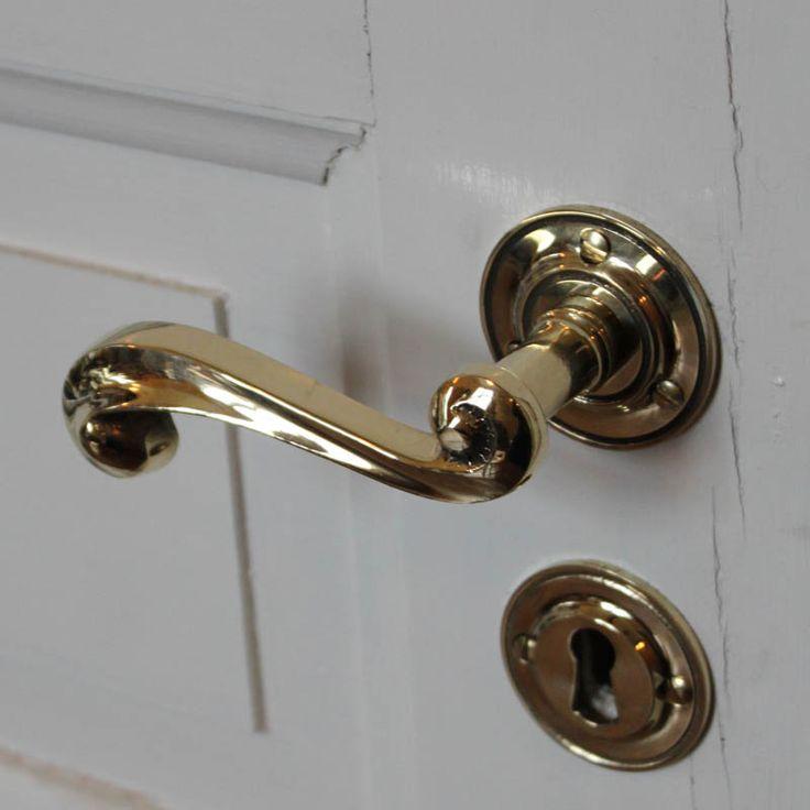 Trycket Rankan mässing (dörrhandtag)