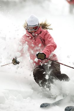You go girl! Tear it up!    #amazing #ski #skiing You can more photo and ski tour on http://iranskiresort.com