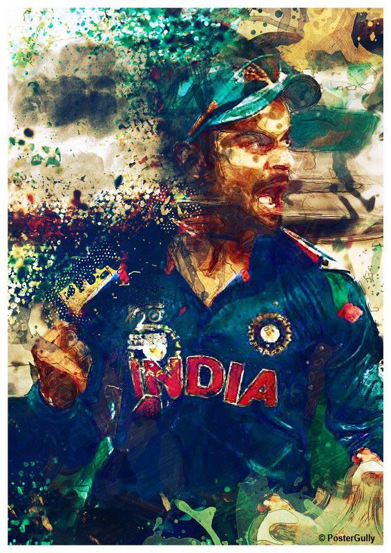 Buy Home Decor Paintings Online | Virat Kohli Artwork | PosterGully