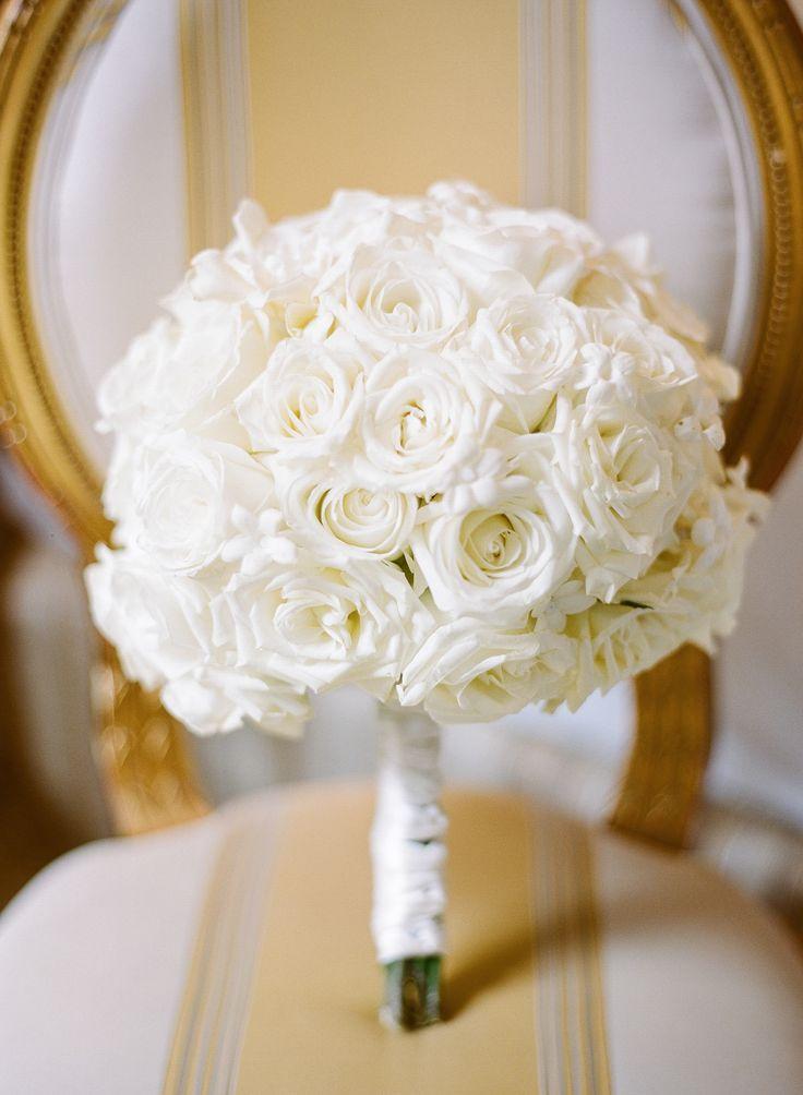 REBECCA YALE PHOTOGRAPHY | Diana Gould LTD   White Rose and Stephanotis Bridal Bouquet
