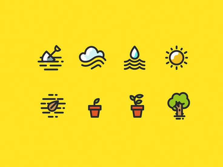 Flat Icons / Flat Design / Icons / Pictograms / Symbols
