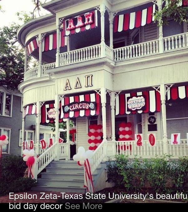 Amazing alpha delta pi house! Carnival bid day theme