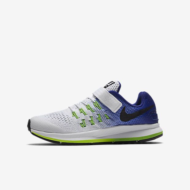 Nike Air Zoom Pegasus 33 FlyEase Little/Big Kids' Running Shoe Size