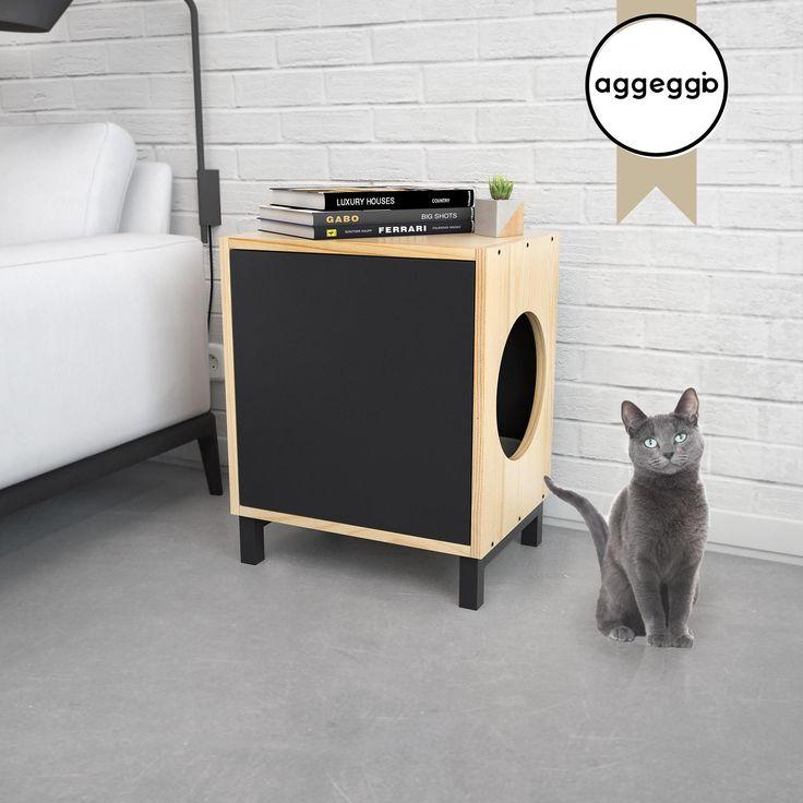 FLORA1, mueble portalitera. Para esconder la bandeja de las piedras sanitarias de tu gato.