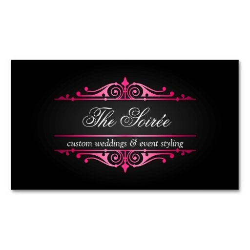 Luxury Event Wedding Planner Business Cards Business