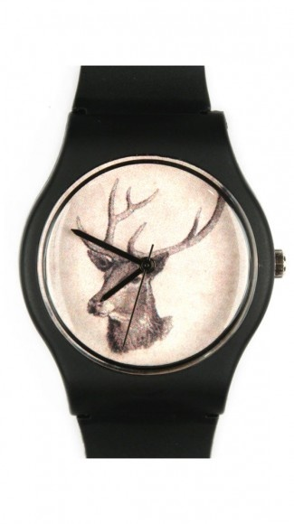 816AM Watch // LuxeYard: 816Am Watches, Deer Watches, Fallow Deer, Nice Watches, Nice Things, Armbanduhr 0816Am, Watches 0816Am, Deer Jewelry, 0816Am Schwarz