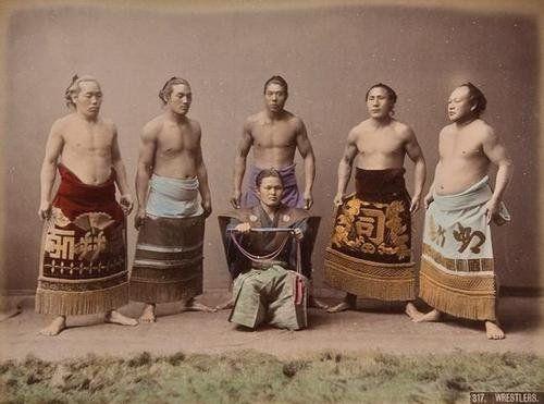 Wrestlers by Kusakabe Kimbei