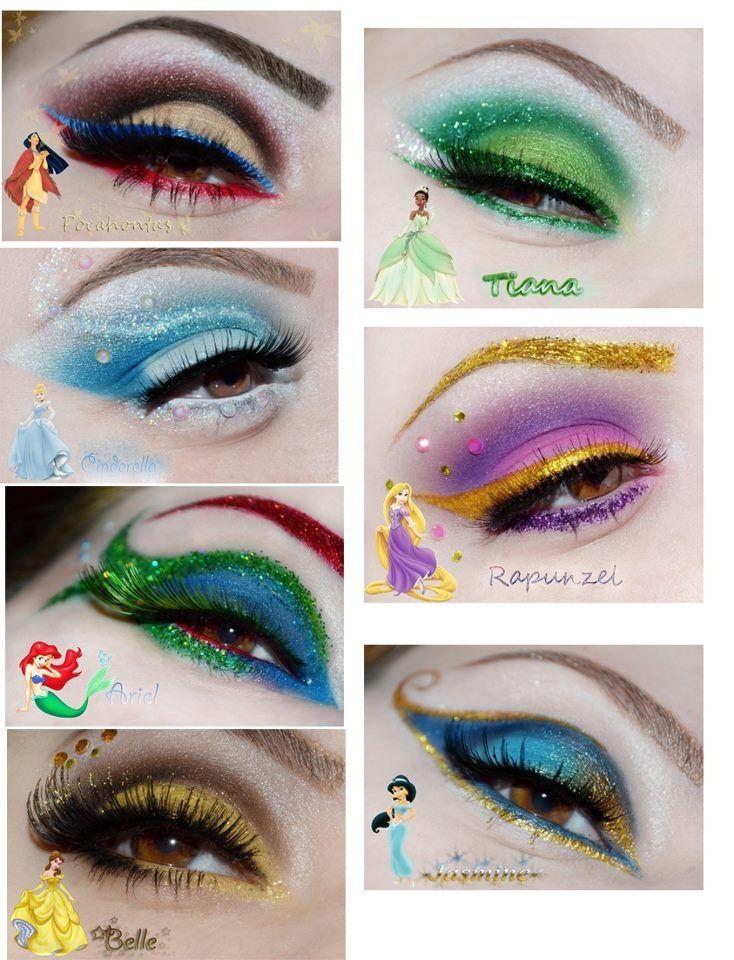 disney princesses eyes make-up  | followpics.co