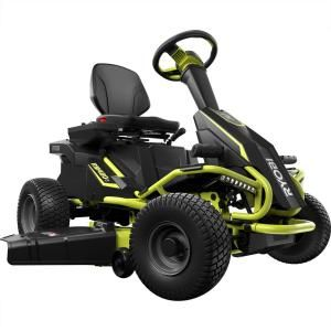 Ryobi RM480e 38 in. Battery Electric Riding Lawn Mower RY48110 at The Home Depot - Mobile