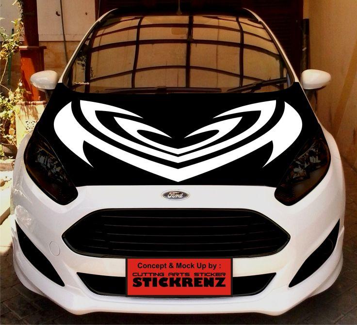 Car Custom Hood Cutting Sticker Concept - Fiesta 010