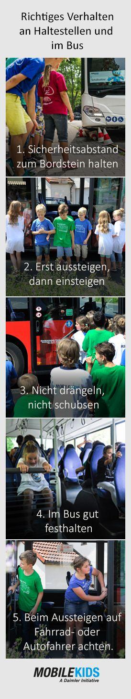 Cute Der Bus ist eines der sichersten Verkehrsmittel f r Kinder Vorausgesetzt man kennt das richtige Verhalten