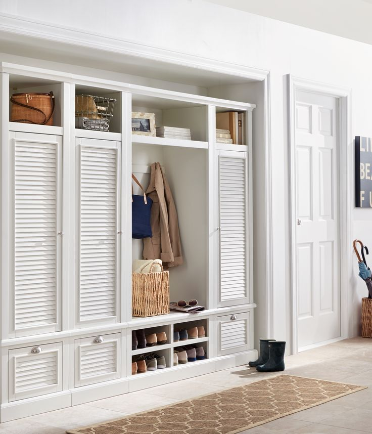 Turn Open Entryway Storage Into Closed Locker Storage With The Shutter  Modular Locker Door. This Convenient Louvered Door May Be Mounted To Your  Left, ...