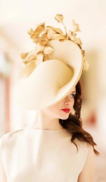 Carol Kennelly Millinery - The technique is what I like--crown/brim.