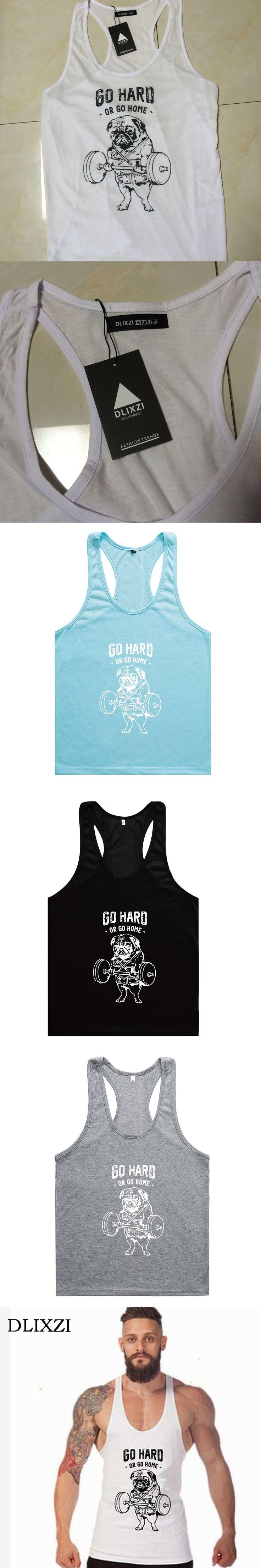 DLIXZI Brand Summer Bodybuilding Tank Tops Sleeveless Fitness Workout Muscle Shirt Fashion Dog Print Funny 3D T-shirt Vest