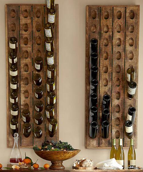 french wine bottle riddling rack