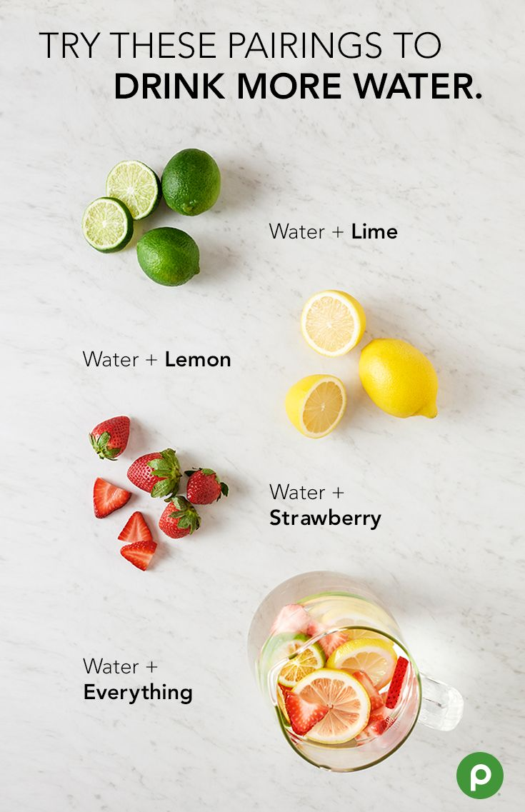 A little flavor could make it easier to drink more water. Try adding fresh lime, lemon, and strawberries to a pitcher and sip throughout the day. Head to your Publix to pick up all the ingredients.
