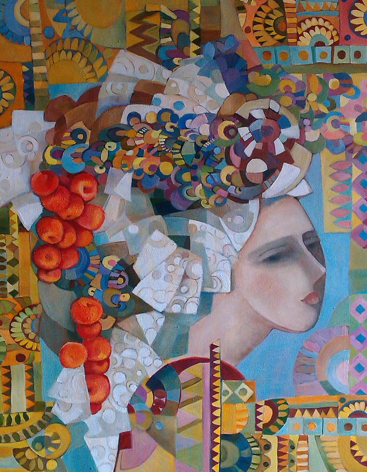 """Girl with apples"", canvas / oil, painter Irina Kolesnikova  http://art-on-line.com.ua/ru/185_kolesnikova-irina-jivopis"