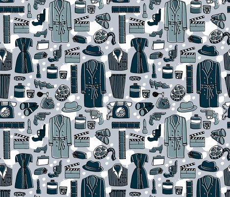 Film Noir fabric by andrea_lauren on Spoonflower - custom fabric