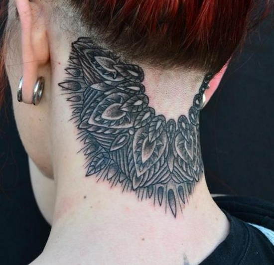 145 Neck Tattoos That Will Make A Statement: 145 Best Permanent Accessories Images On Pinterest