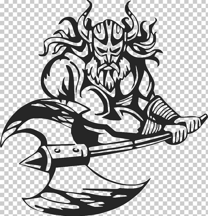 Viking Png Art Black Fictional Character Fictional Characters Line Art Free Clip Art Art Viking Character