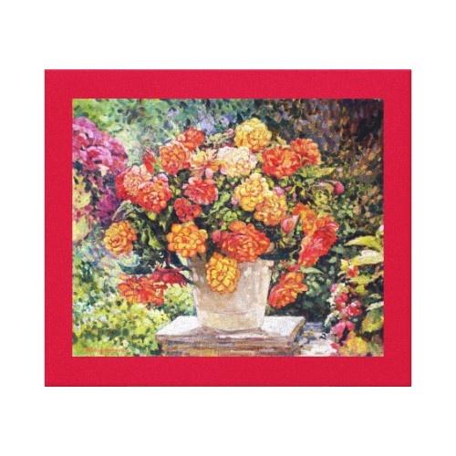 Hot Begonia original painting print From http://www.zazzle.com/hot_begonia_oil_painting_custom_wrapped_canvas-192412953799968946?gl=asoldatenko&rf=238989809136585871