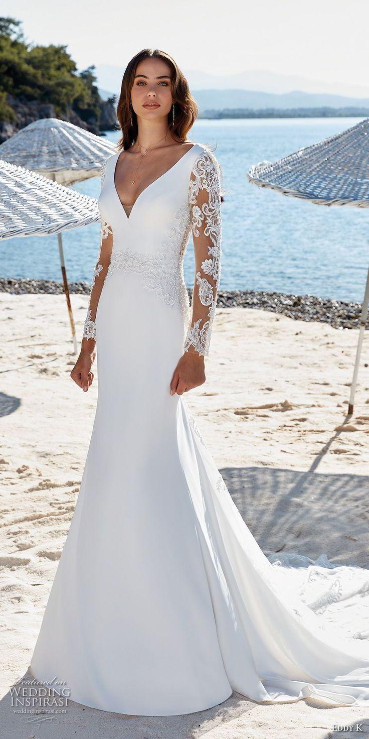 Eddy K Dreams 2019 Wedding Dresses Wedding Inspirasi Fit And Flare Wedding Dress Wedding Dresses Lace Sheer Wedding Dress [ 1472 x 736 Pixel ]