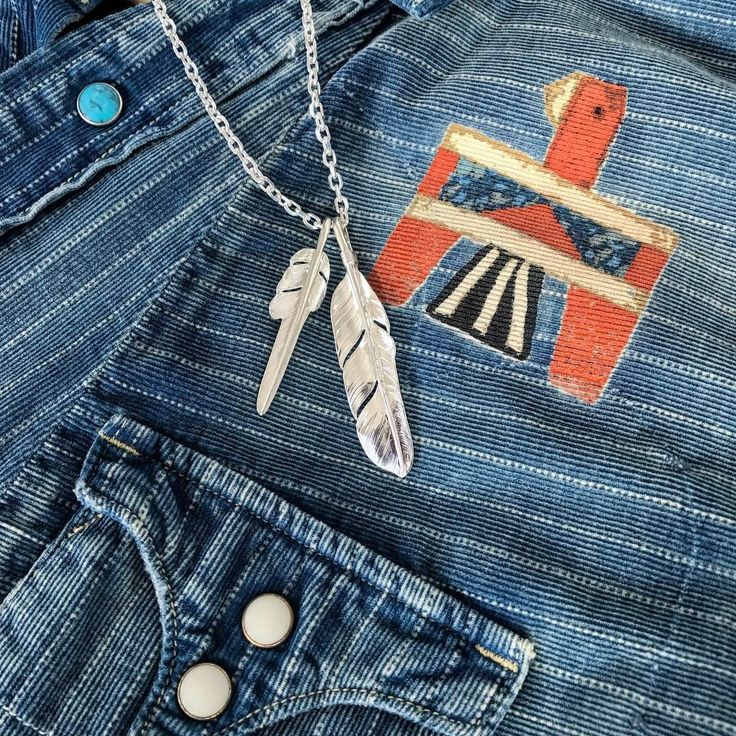 "panchoandleftyshop: ""Larry Smith Feathers, Back in Stock! #panchoandlefty #larrysmith #madeinjapan #craftsmanship #silverjewelry #feathers #thunderbird """