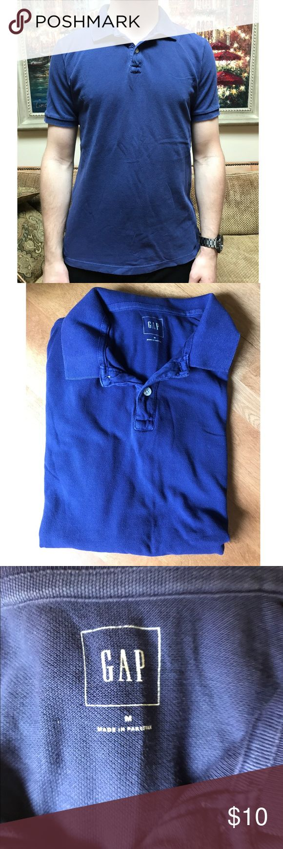 Men's Blue Gap Polo Washed once but never worn! Dark bluish purple color. Size medium! Fits true to size. GAP Shirts Polos