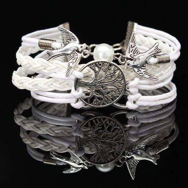 Multilayer Bird Leather Bracelet